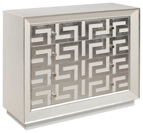 Perry Hall Chest, Satin White Finish