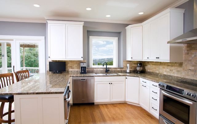 Traditional White Kitchen Mdf Paint Traditional Wichita By