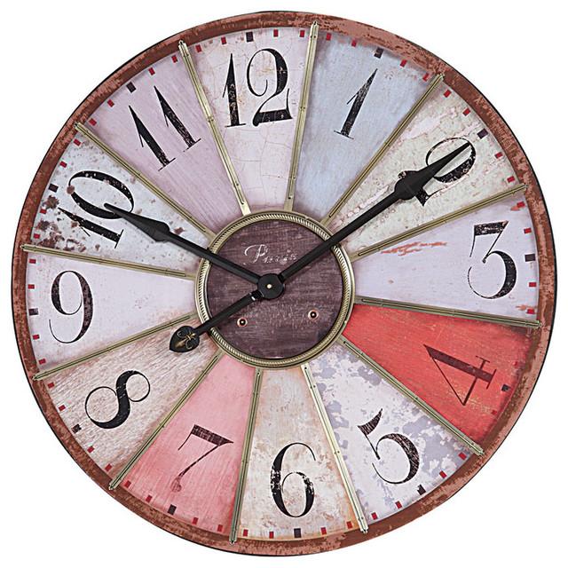 Creative Co-Op Round Wood Clock