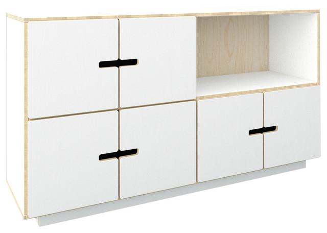 PIX Sideboard, White Film, 3 Cupboards