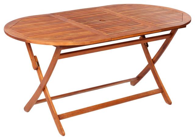 vidaXL Outdoor Dining Table, Acacia Wood