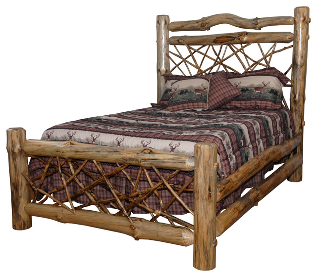 Furniture Barn Usa Rustic Pine Log Queen Size Twig Bed