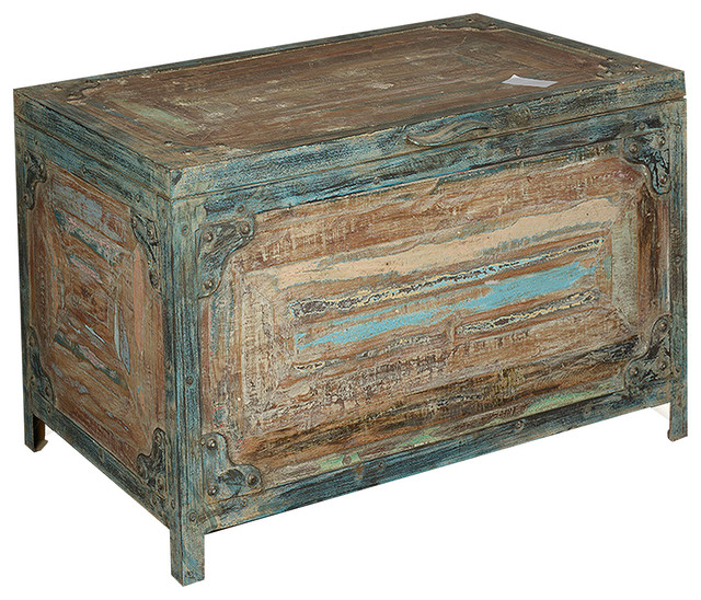 Industrial Storage Coffee Table Review: Reclaimed Wood & Iron Storage