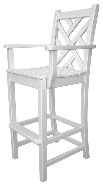 Counter Height Arm Chairs : ... Bar Height Arm Chair, White asian-outdoor-bar-stools-and-counter