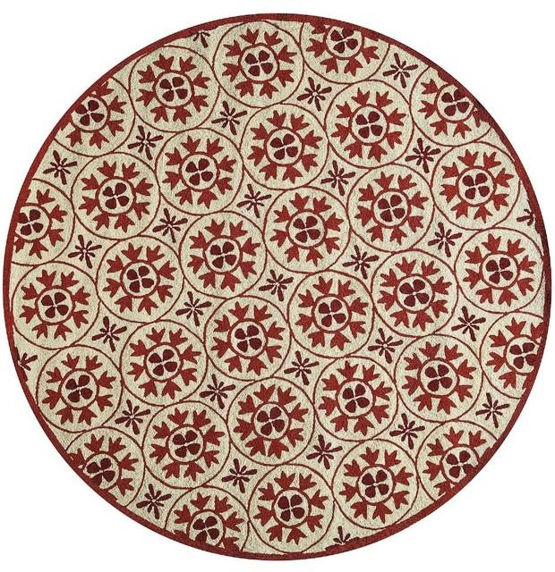 Shop houzz momeni rugs contemporary veranda area rug for Round contemporary area rugs