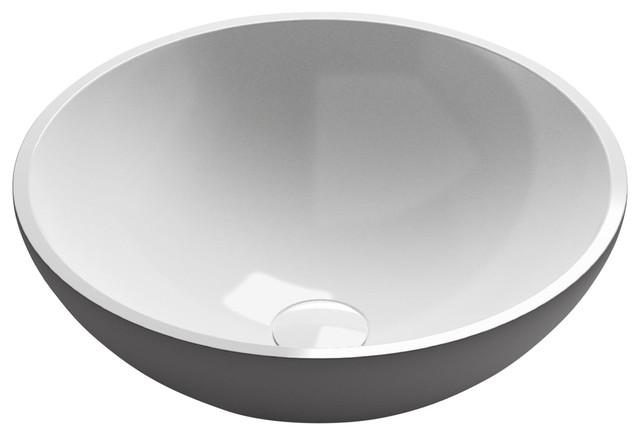 L'Aquila Vessel Bathroom Vessel Sink, Glossy, 40 cm
