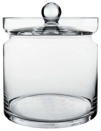 "Apothecary Glass Jar Candy Buffet Container/canister, Open 7"" 8.5""."
