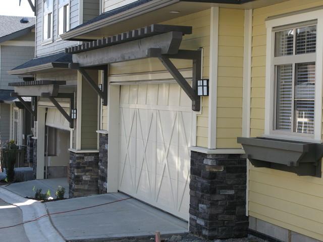 garage door pergola