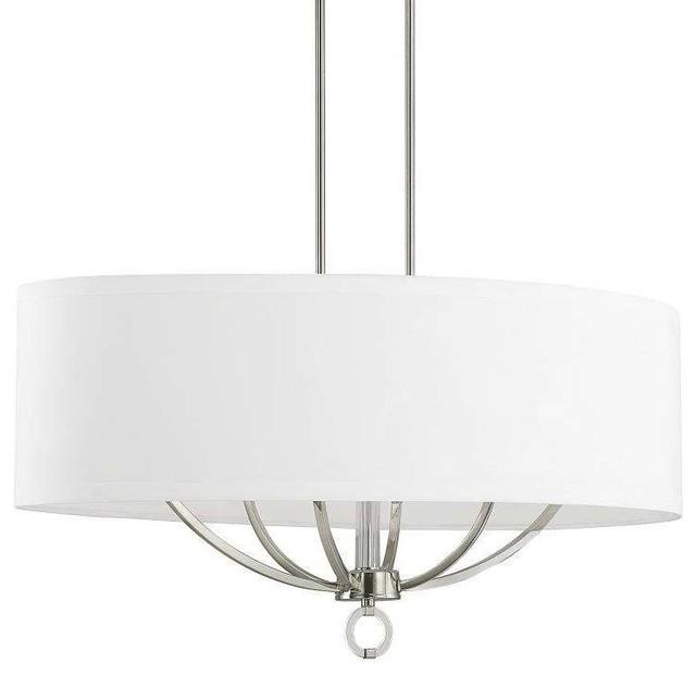 Taylor 6 light island light polished nickel transitional kitchen island lighting