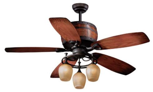 Vaxcel Lighting Cabernet 52 5 Blade Indoor Ceiling Fan With Reversible Motor.