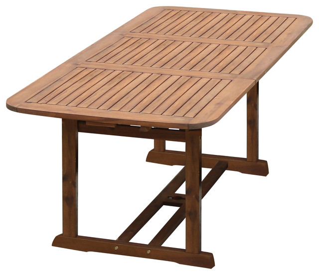 acacia wood patio butterfly table craftsman outdoor