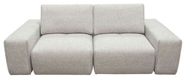 2-Seater Chaise Sectional With Adjustable Backrests
