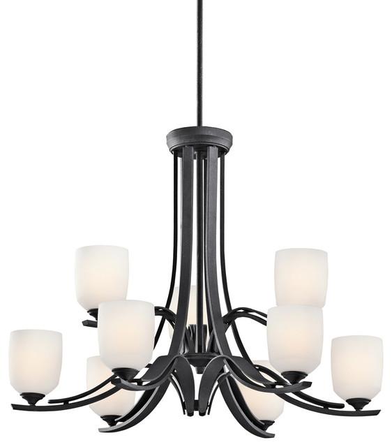 Kichler Lighting Breton Mills 9 Light Chandelier Distressed Black