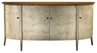 French Heritage Large Dian Buffet, Silver Leaf