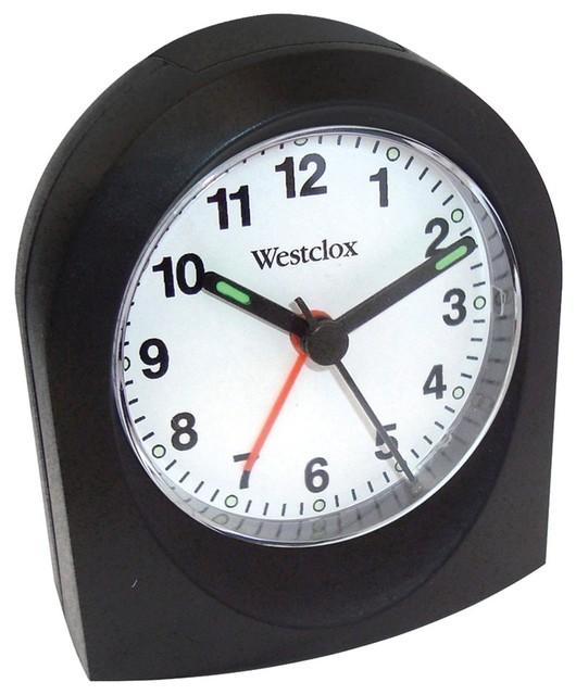 westclox bedside analog alarm clock black alarm clocks houzz. Black Bedroom Furniture Sets. Home Design Ideas