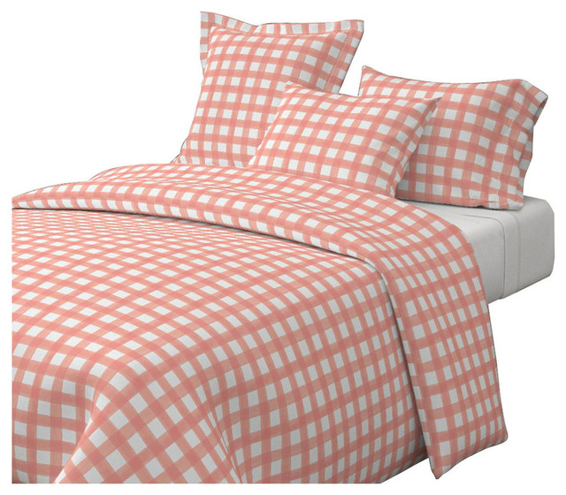 Pink Gingham Duvet Cover Twin Sweetgalas