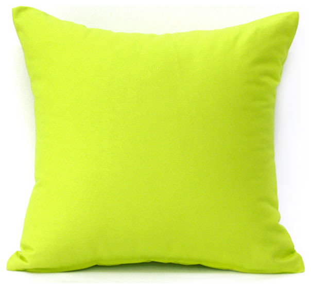 Solid Lime Green Accent Throw Pillow Cover Contemporary