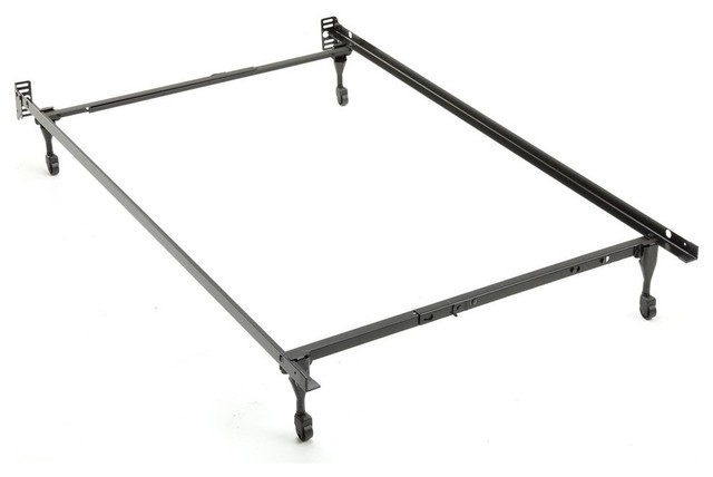Sentry 79c Adjustable Bed Frame, Headboard Brackets, 4 Caster Legs, Twin/full.