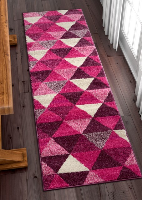 Mystic Alvin Modern Geometric Purple Area Rug Mc 67 Scandinavian Hall And Stair Runners By Rug Lots Area Rug Warehouse