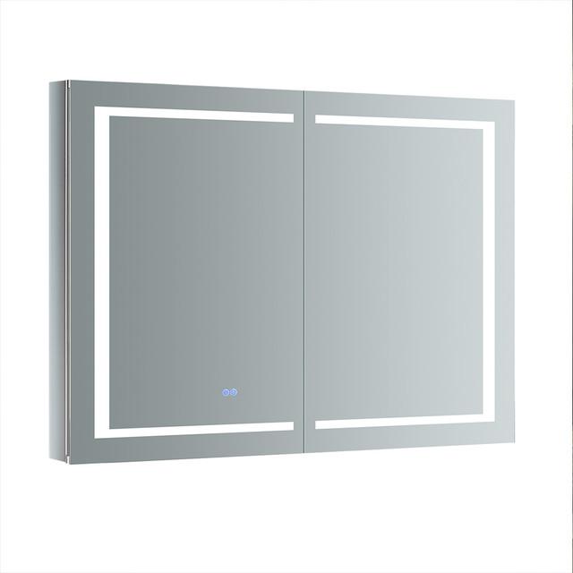 48 Medicine Cabinet Magnificent Fresca Spazio Bathroom Medicine Cabinet With LED Lighting 60x60