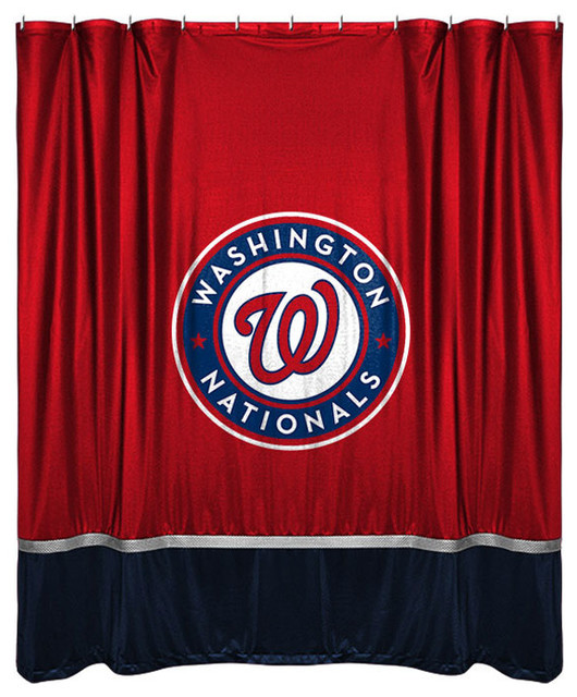 MLB Washington Nationals Shower Curtain Baseball Bathroom