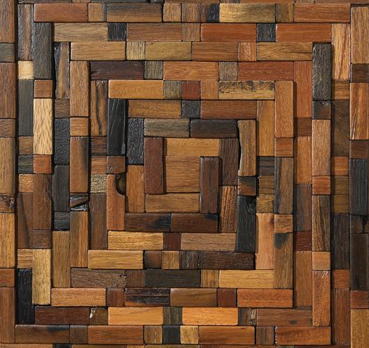 13 5 Quot X13 5 Quot Wood Mosaic Tile Pattern Maze Rustic
