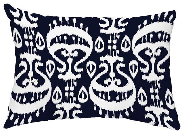 Ikat 14 X20 Decorative Ikat Outdoor Throw Pillow Mediterranean
