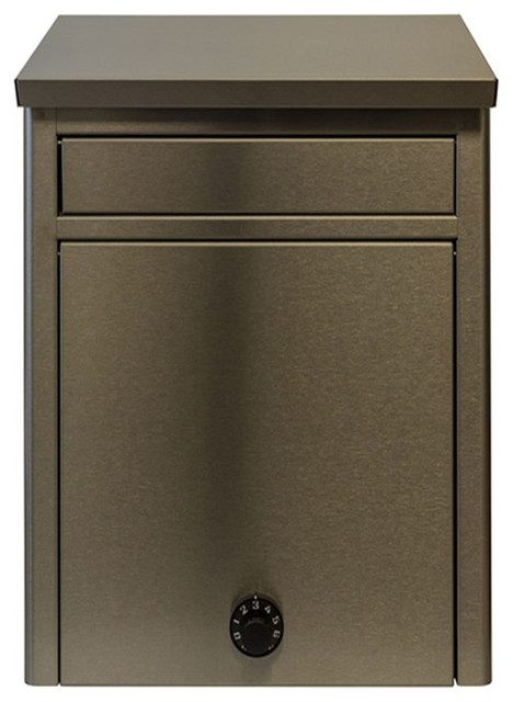 STAINLESS STEEL WALL MOUNT LOCKABLE MAILBOX