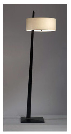 Tilt Floor Lamp, Dark Brown.
