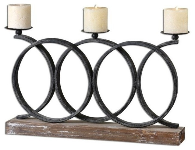 Country bathroom design - Grace Feyock Kra Iron Candelabra Rustic Candleholders
