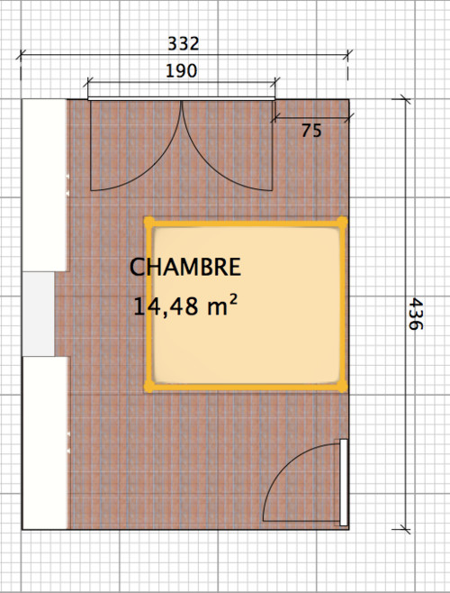 besoin d 39 aide pour peinture murs placards chambre parents. Black Bedroom Furniture Sets. Home Design Ideas
