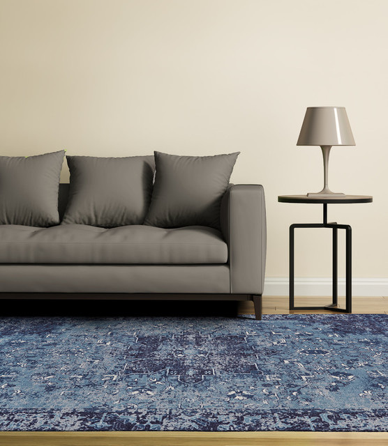 Feizy Boudreau Rug Blue Contemporary Area Rugs By Feizy Rugs Houzz