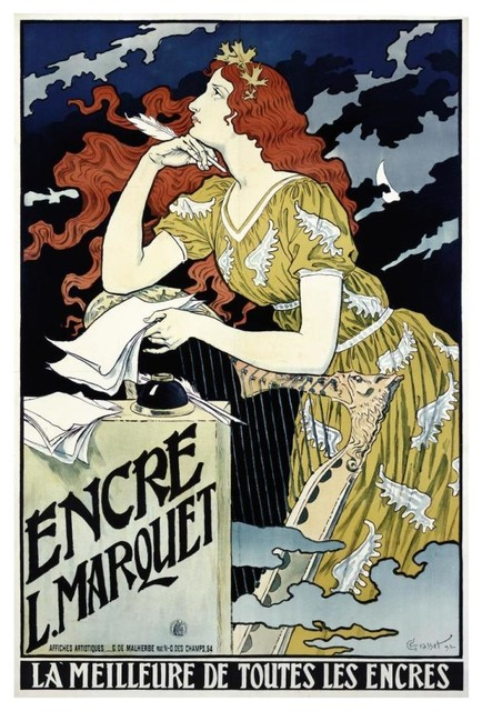 Encre L Marquet Digital Paper Print By Eugene Grasset 17 X24 Midcentury Prints And Posters By Global Gallery
