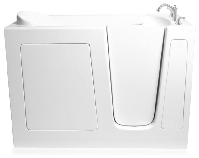 Ariel Modern Walk-In Bathtub Soaker, 51x26x38, Right.