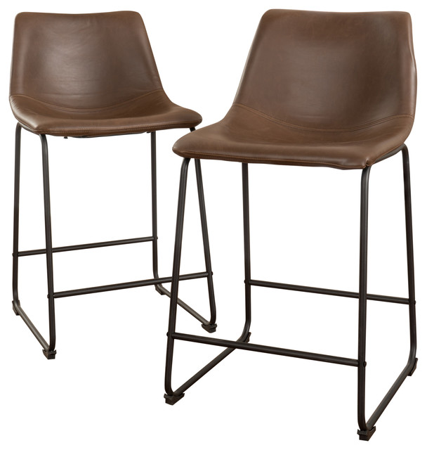 Denise Austin Home Central Vintage Brown Bar Stools, Set Of 2. -1