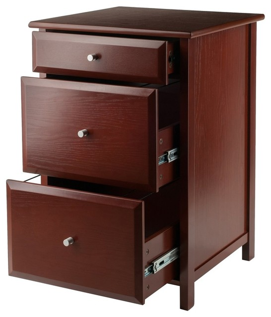 Delta File Cabinet Walnut.
