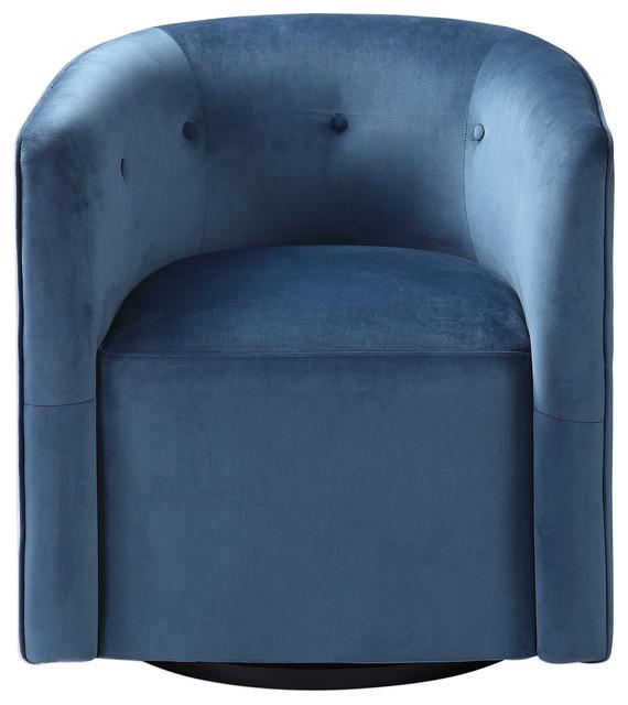 Cool Mallorie Blue Swivel Chair Machost Co Dining Chair Design Ideas Machostcouk
