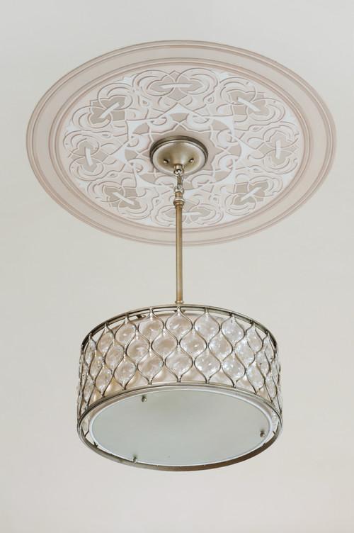- Pendant Light And Ceiling Medallion