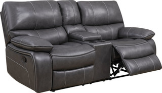 Console Reclining Loveseat , Black