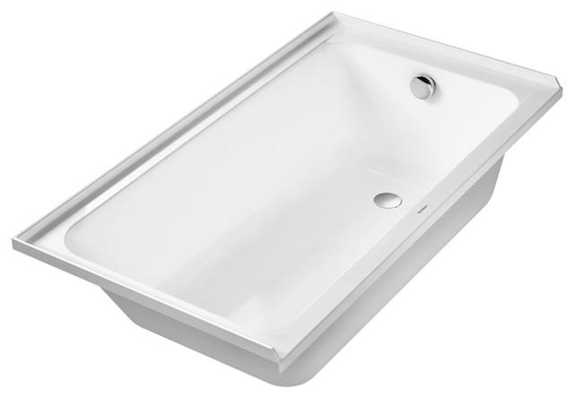 """Duravit D-Code Soaking Bathtub, 60""""x32""""x17"""", 700405000000090"""