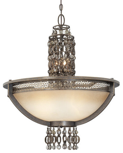 Metropolitan N6723 Ajourer 3 Light Bowl Shaped Pendant