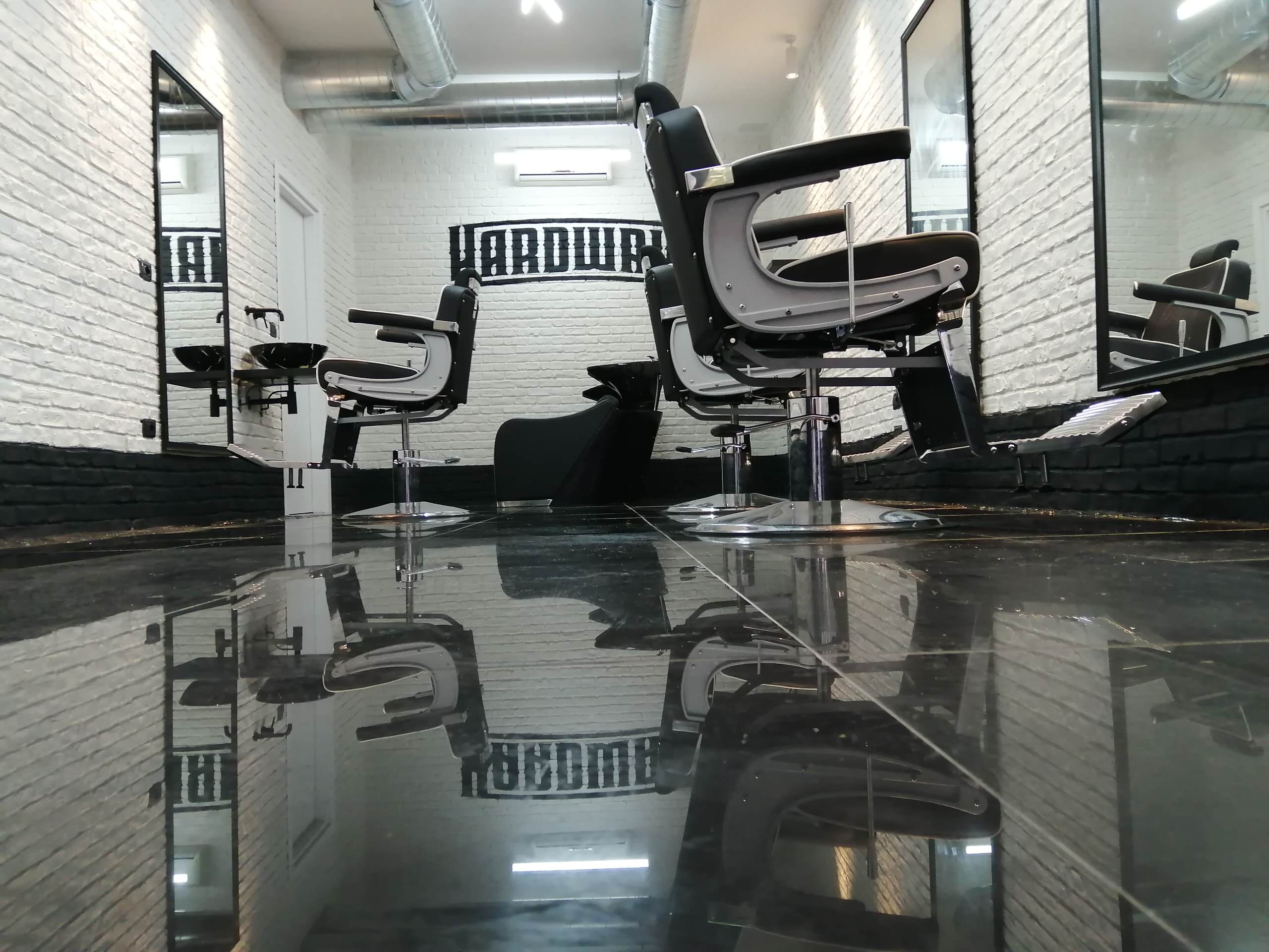 Barber shop industrial style