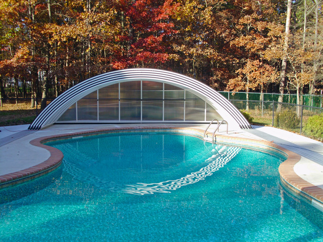 Retractable pool enclosures middle modern other by for Telescopic pool enclosures