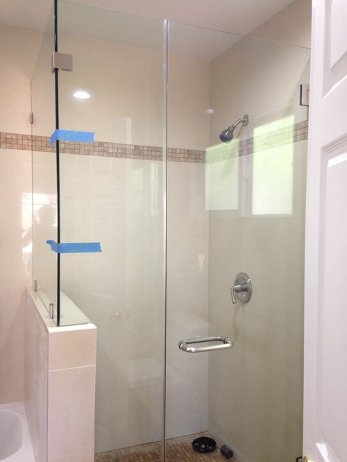 Beautiful Install A Towel Hook/holder To Unframed Shower Glass