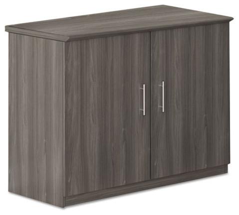 Medina Series Storage Cabinet, 36w X 20d X 29 1/2h, Gray Steel.