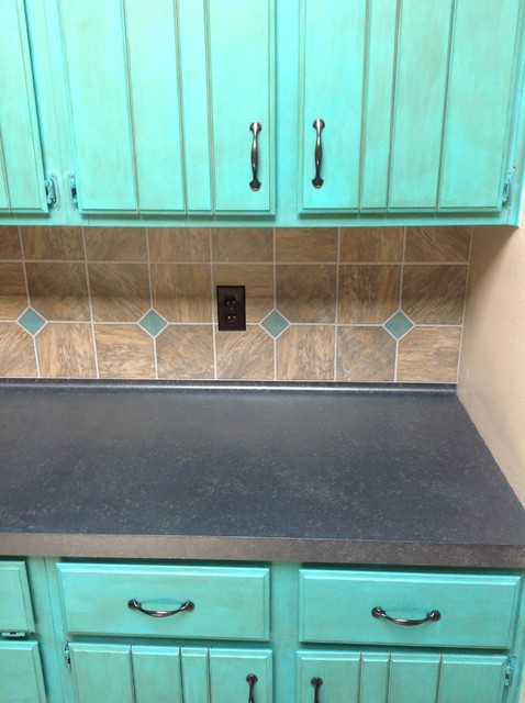Painted Kitchen Countertops Painted Kitchen Cabinets Before And After