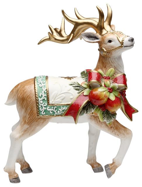 Victorian Harvest Reindeer Figurine.