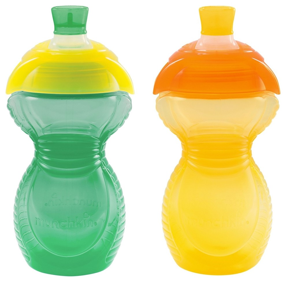 Munchkin Click Lock Bite Proof Sippy Cups 2 Pack 9 Ounce