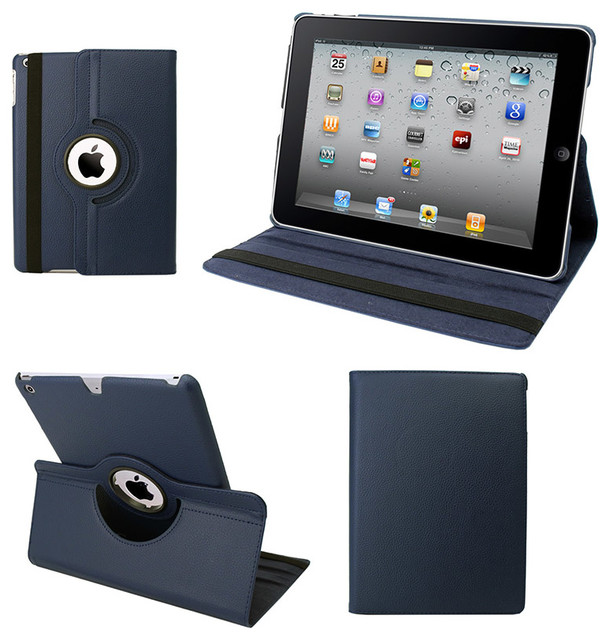 I-Pad Air Case, Faux Leather,navy Blue.