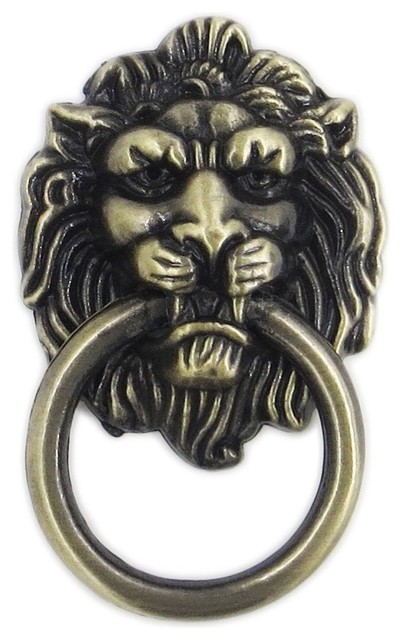 Decorative Knobs Lions Head Brass Pull - Cabinet And Drawer Handle Pulls | Houzz